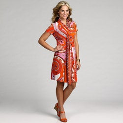 Tiana B. Women's Pink/ Orange Abstract Dress