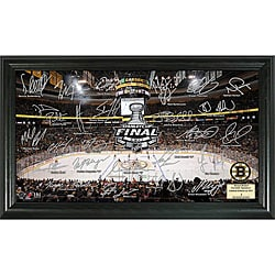 Highland Mint Boston Bruins 2011 Stanley Cup Final Rink Signature Framed Photo