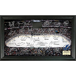 Highland Mint Tampa Bay Lightning Rink Team Autographed Framed Photo