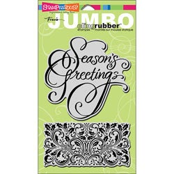 Stampendous 'Jumbo Holly Season' Cling Rubber Stamp