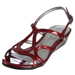 Sam & Libby Women's 'Bedda' Red Wedged Sandals