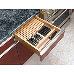 Trim-to-Fit Wood Knife Block Organizer