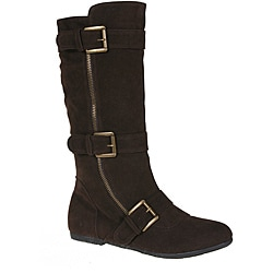 Story Women's 'Parker-1' Brown Buckle Mid-Calf Boots