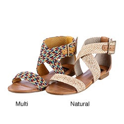 BC Footwear Women's 'Conch' Woven Sandals FINAL SALE