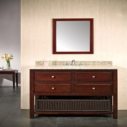 Granite Top Dakota 2-drawer Hardwood Vanity By Ove Decors
