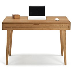 Natural Cherry Solid Wood Desk