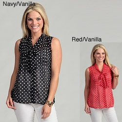 Requirements Women's Polka-dot Bow Top FINAL SALE