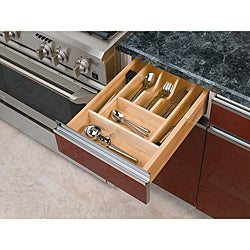 Trim-to-Fit Wood Cutlery Organizer
