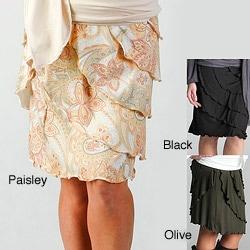 Lilac Clothing Women's Maternity Ruffle Skirt