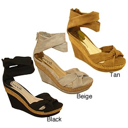 Bucco Women's 'Ambrose' Wedge Sandals