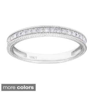 10k White Gold 1/6ct TDW Diamond Wedding Band (G-H, I1-I2)