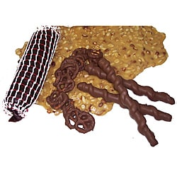 Lang's Chocolates Milk Chocolate Pretzels and Beer Game Day Package