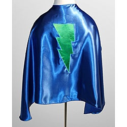 Power Capes Blue and Green Lightning Bolt Superhero Cape