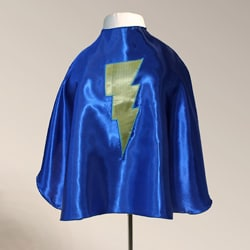 Power Capes Blue and Yellow Lightning Bolt Superhero Cape