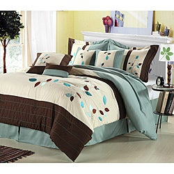 Hampton Leaves Oversized 8-piece Comforter Set