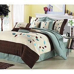 Hampton Leaves Oversized 8-piece Comforter Set