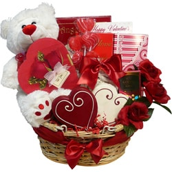 Art of Appreciation 'Valentines Treasures' Teddy Bear Gourmet Gift Basket