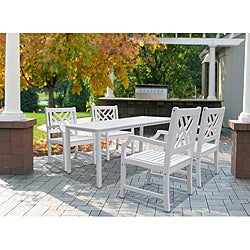 Bradley Five-Piece Wooden Table/Armchair Outdoor Dining Set
