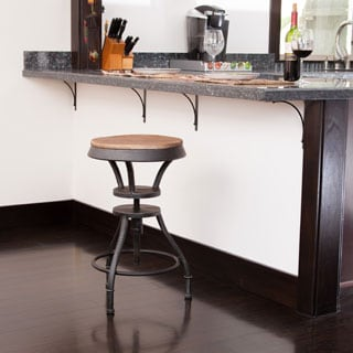 Lucian Fir Top Adjustable Barstool