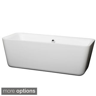 Wyndham Collection Emily Free Standing Soaking Bathtub