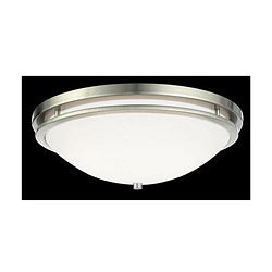 Quoizel Lighting 'Marriott Series' 1-light Brushed Nickel Flush Mount Fixture