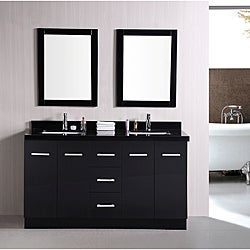 Design Element Elite Contemporary Double-Sink Bathroom Vanity