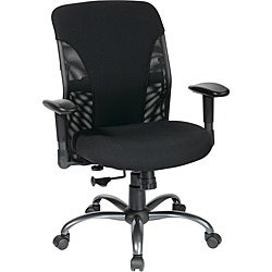 Mesh Mid-back Chair with Titanium Finish Frame