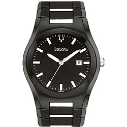 Bulova Men's Black Stainless Steel Watch