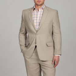 Adolfo Men's 2-button Tan Linen Suit FINAL SALE