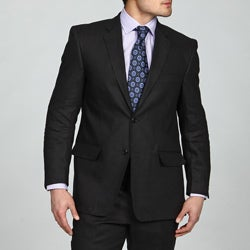 Adolfo Men's 2-button Black Linen Suit