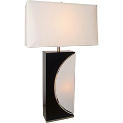 Nova Half Moon Table Lamp with White Shade
