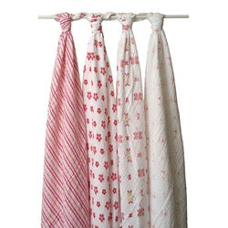 aden + anais Muslin Swaddle Blankets in Princess Posie (Pack of 4)