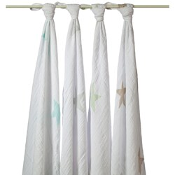 aden + anais Muslin Swaddle Blankets in Superstar Scout (Pack of 4)