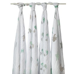 aden + anais Muslin Swaddle Blankets in Up Up and Away (Pack of 4)