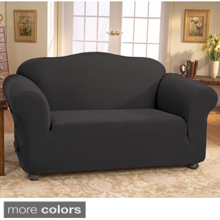 Stretch Honeycomb Loveseat Slipcover