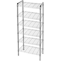 The Art of Storage Silver 6-tier Quick Rack