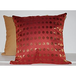 RLF Home Red Spottie Decorative Pillow (Set of 2)
