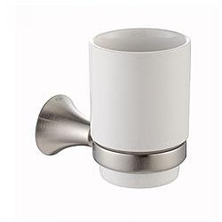 Kraus Amnis Bathroom Accessories - Wall-mounted Ceramic Tumbler Holder Brushed Nickel