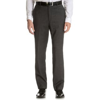Tommy Hilfiger Men's Trim Fit Grey Slim Stripe Wool Dress Pants