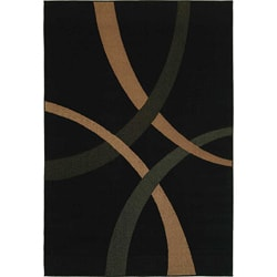 Pinnacle Black Rug (5' x 8')