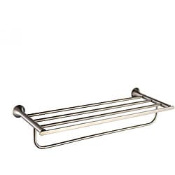 Kraus Amnis Bathroom Accessories - Bath Towel Rack with Towel Bar Brushed Nickel