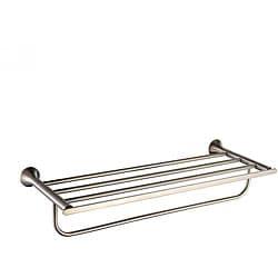 Kraus Amnis Bathroom Accessories - Bath Towel Rack with Towel Bar Brushed Nickel
