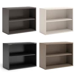 Mayline CSII 36-inch Wide All Steel 2-Shelf Bookcase