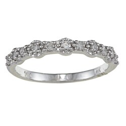 14k White Gold 1/4ct TDW Diamond Stackable Band (J, I1-I2)
