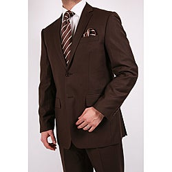 Ferrecci's Men's Brown Slim-Fit Suit with Tie