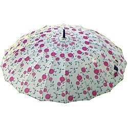 Laura Ashley Erin Cherry Charcoal Floral City Umbrella