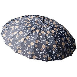 Laura Ashley Erin Gold Charcoal Floral City Umbrella