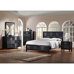 Montserrat Black Wood 5-Piece Modern Bedroom Set