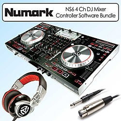 Numark NS6 4 Channel Digital DJ Mixer Controller Kit
