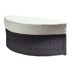 Espresso Outdoor Haven Ottoman